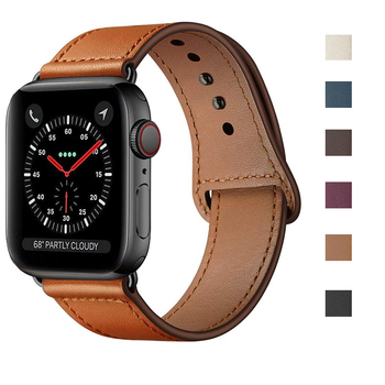 Genuine Leather Loop Band For Apple Watch 5 4 44mm 40mm Strap For Iwatch 3/2/1 38mm 42mm Correa Replacement Bracelet Accessorie