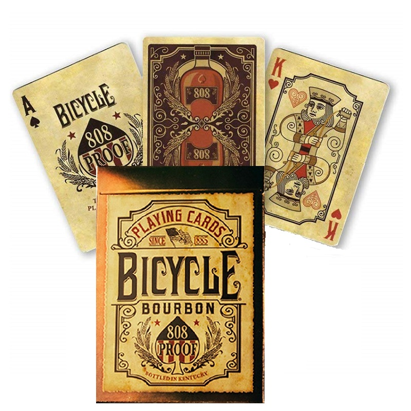 Bicycle Bourbon 808 Proof Playing Cards Kentucky Whiskey Deck USPCC Collectible Poker Card Games Magic Tricks Props for Magician image