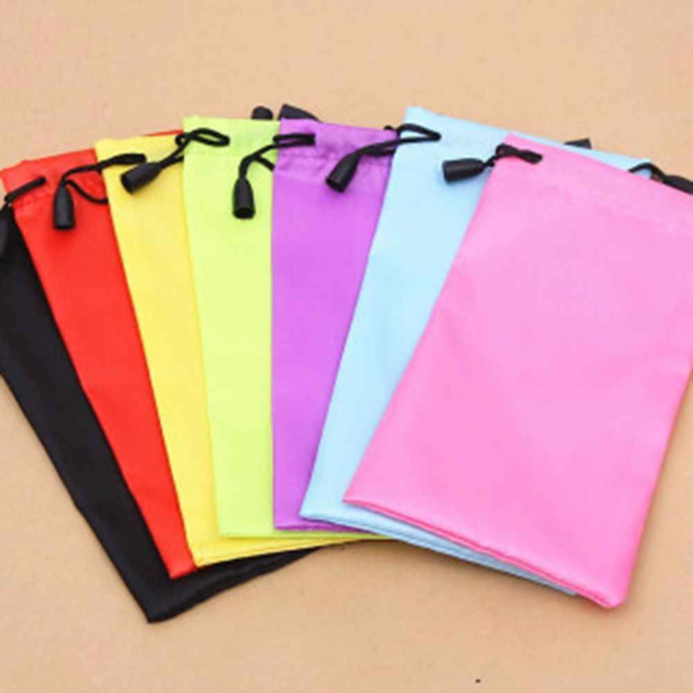 New Hot Sale Portable Soft Microfiber  Bag For Sunglasses Eyeglasses Glasses W/Lanyard Cloth