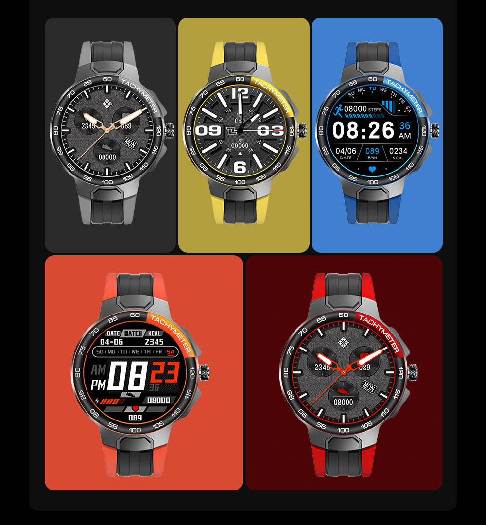 H3d2225e586994f44953476989774aae0D Smart Watch Men Women IP68 Waterproof Bluetooth 5.0 24 Exercise Modes Smartwatch E1-5 Heart Rate Monitoring for Android Iosr A