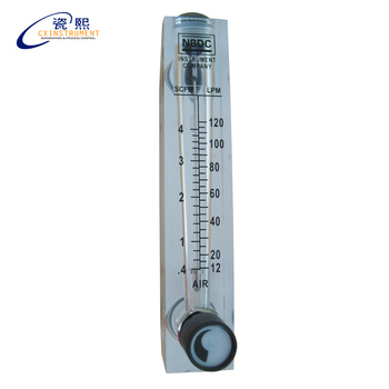 "ZG1/2 ""גז rotermeter זרימת מים מטר עם שסתום רגולטור אוויר rotameter פנל גז flowmeter"