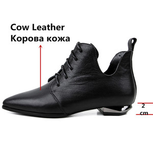 Image 3 - FEDONAS Quality Genuine Leather Cross Tied Chelsea Boots Party Dancing Shoes Woman 2020 Autumn Winter Warm Women Ankle Boots