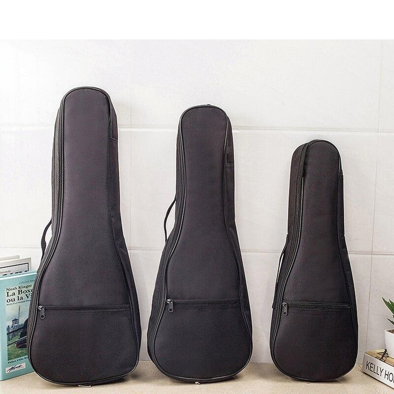 Ukulele Bag 21/23/26 Inch Portable Waterproof Musical Instrument Single Shoulder Bag Soprano Guitar CaseTas Guitar Carry Case