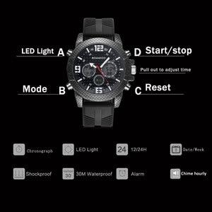 Image 5 - BOAMIGO 고급 브랜드 시계 남자 스포츠 시계 LED 디지털 아날로그 석영 남자 군사 손목 시계 시계 남자 Relogio Masculino