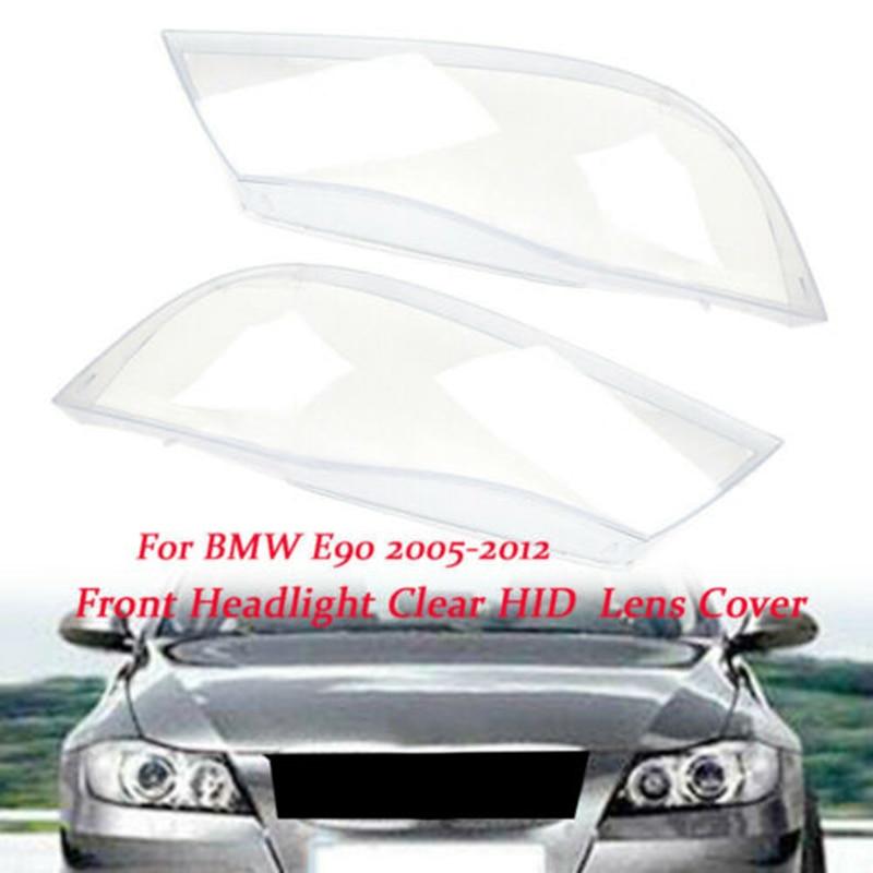 Car Headlight Xenon Lens Shell Cover For BMW 3 E90 Sedan / E91 Touring 2005-2012