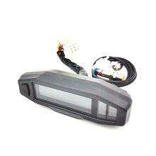 Motorrad LCD Tacho Digital Kilometerzähler 199 KM/H 1200RPM Gauge w/ Sensor