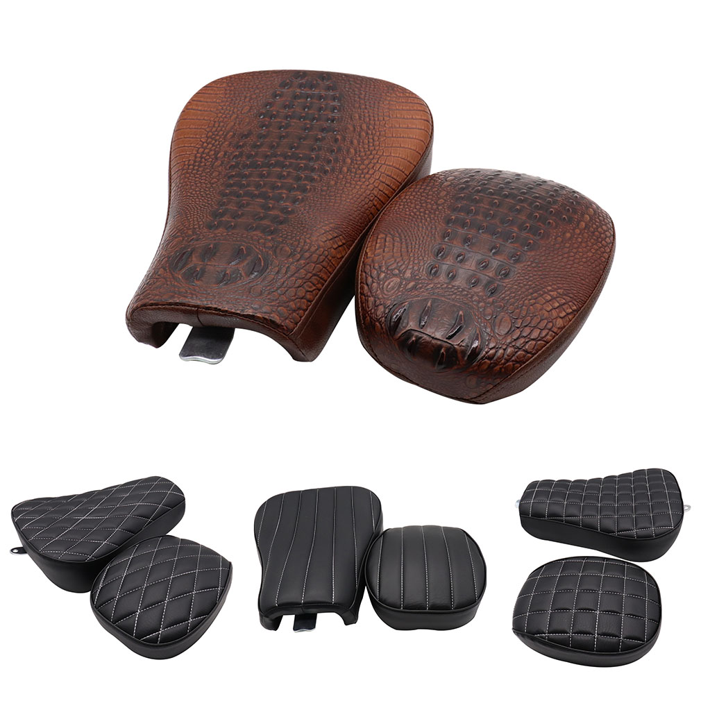 GOOFIT Motorcycle Front Rear Set Driver Solo Seat Cushion Replacement for Harley Sportster Forty XL1200 883 72 <font><b>48</b></font> 2012-2015 image