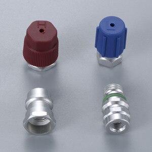 Image 5 - R12 R22 à R134a Kit de pièces de Conversion adaptateurs droits avec Service de base de Valve