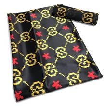 Tissu africain en dentelle de soie pour femmes, 4 + 2yards, Satin, cire en soie, Style robe, dernière conception