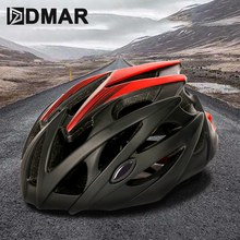 цена на DMAR Cycling Helmet With Turn Signal Ultralight Cover MTB Road Bike Helmet Cycling Integrally Molded Helmet Cycling Safely Cap