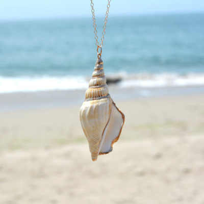 Summer Style Natural Starfish Conch Sea shell Necklace Pendant For Women  Collier Femme Shell Jewelry XL880