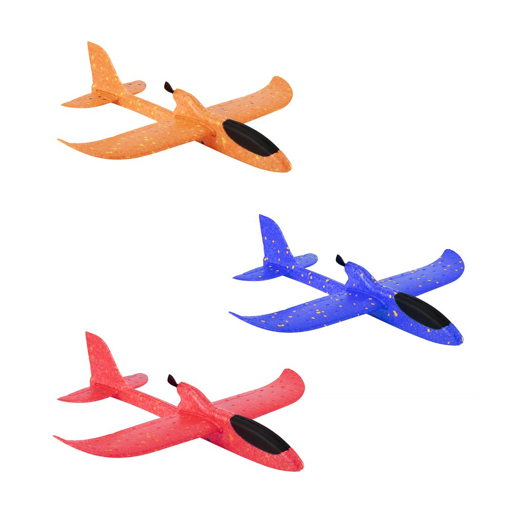 DIY Electric Assisted Glider Foam Powered Flying Plane Rechargeable Electric Aircraft Model Educational Toys For Children