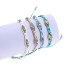 Новинка Модный корейский женский браслет с искусственными бусинами