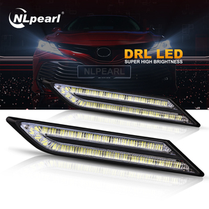 Nlpearl 2x 33 SMD Daytime Running Lights for Car led Waterproof Super Bright LED DRL Module Car Light Assembly Car Styling 12V