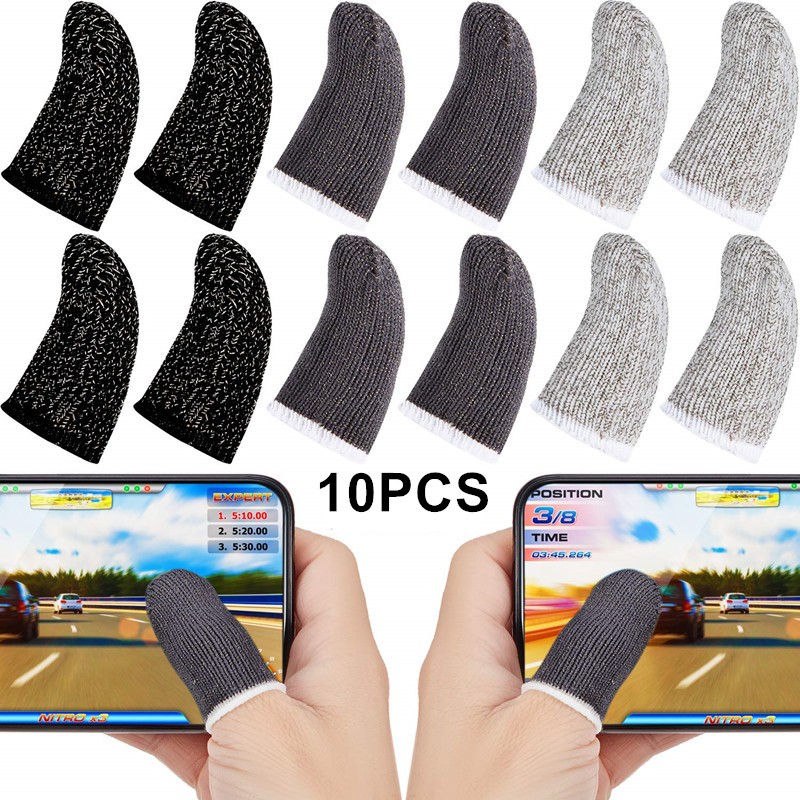 Finger-Sleeve Gaming-Gloves Thumbs Touch-Screen Pubg Sweat-Proof for Mobile-Phone-Game title=