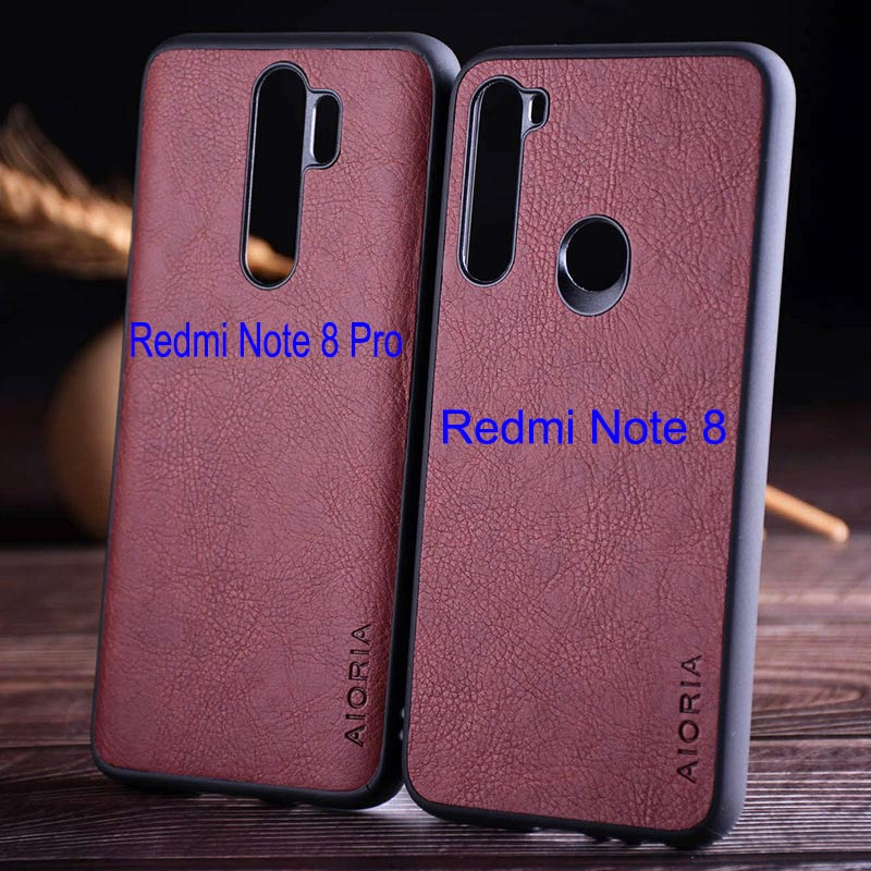 luxury Vintage Leather Skin Capa With Slot Phone Cover for Xiaomi Redmi note 8 case 1