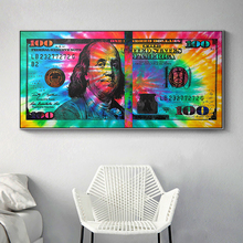 Canvas Painting Wall Art Picture Canvas Print 100 Dollar Bill Pop Art For Living Room Home Decor No Frame painting canvas wall decor art picture canvas print painting abstract pattern blue yellow for living room home decor no frame