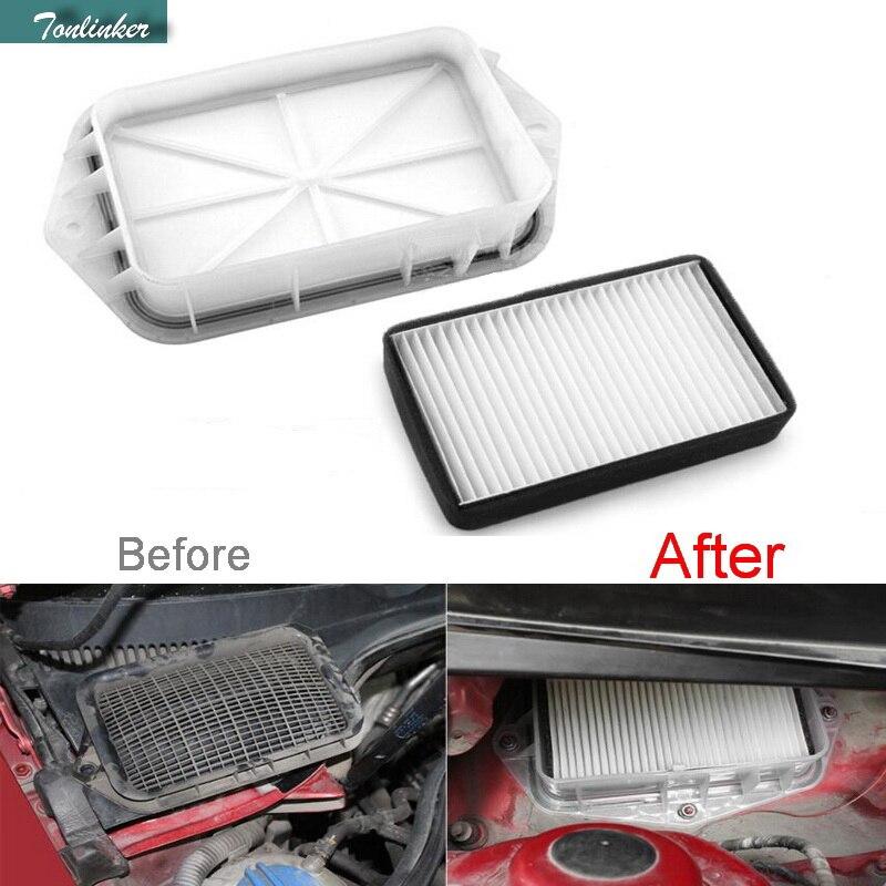 Tonlinker 3 Holes Air Filter For Vw Sagitar CC Passat Magotan Golf Touran Audi Skoda Octavia Car Styling External Air Filter