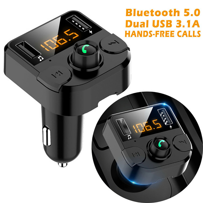 Lovebay <font><b>Car</b></font> FM Transmitter LCD MP3 Player Wireless Bluetooth Receiving <font><b>Car</b></font> Kit Handsfree Dual USB <font><b>Charger</b></font> Phone <font><b>Power</b></font> <font><b>Adapter</b></font> image