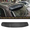 Карбоновый задний спойлер для Audi Q7 Slin SQ7 SUV  4 двери  2016-2018  спойлер заднего багажника  крыла  Boot губ  Черный FRP