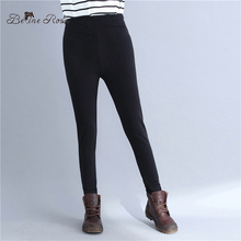 BelineRosa Plus Size Leggings for Women Black Color Thicken Flocking BSDM0279