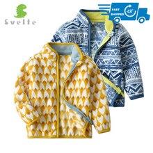 SVELTE/симпатичная флисовая куртка для маленьких мальчиков и девочек на весну, осень, зиму, одежда с принтом для детей ясельного возраста, одежда для детей