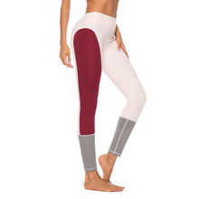 CINESSD Sport Leggings For Women High Waist Patchwork Yoga Pants Gym Push Up Fitness Brand