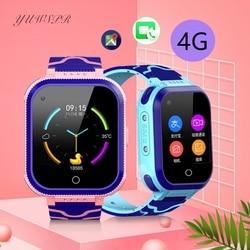 Дети 4G часы дистанционного мониторинга видео чат водонепроницаемый камера SIM карты SMS gps позиционирования трекер девочка мальчик часы T3