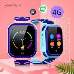 Enfants 4G montre surveillance à distance vidéo Chat étanche caméra SIM carte SMS GPS positionnement Tracker fille garçon horloge T3