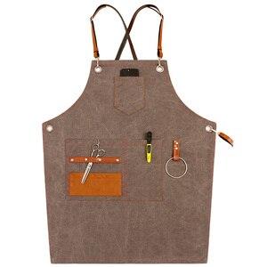 Delantal de mezclilla unisex de estilo nórdico a la moda, delantales para limpiar el trabajo de las tiendas de café, para hornear la cocina de la mujer, daidle