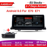 10.25 Android 9.0 Qualcomm 8 Core Car DVD Multimedia Player For BMW E70 E71 E72 X5 X6 Bluetooth GPS Navigation Head Unit