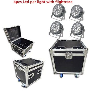 Светодиодный par light 18x18 Вт RGBWA UV 6в1 моющиеся светодиодные огни Светодиодный плоский параболический алюминиевый рефлектор сценическое освеще...