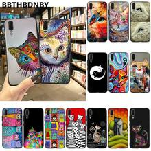 For Xiaomi 9 case Art portrait cat Novelty Fundas Phone Case Cover for Xiaomi 8 9 se Redmi 6 6pro 6A 4X 7 note 5 7(China)