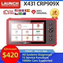 Launch X431 CRP909X OBD2 Scanner Auto Diagnostic Tool Professionele Automotive Scanner Auto Scan Diagnoses Pk CRP909 MK808