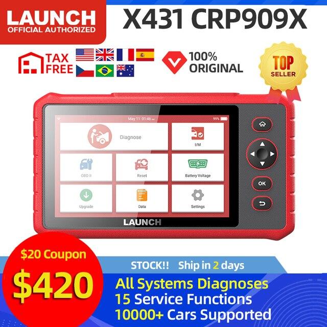RA MẮT X431 CRP909X OBD2 Máy Quét Xe Công Cụ Chẩn Đoán Chuyên Nghiệp Ô Tô Máy Quét Tự Động Quét Chẩn Đoán PK CRP909 MK808