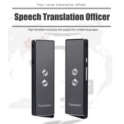 Portable Smart Translator Bluetooth Real-Time Voice Translation Support 40 Languages For Travel Meeting Learning 3.7V 750mA