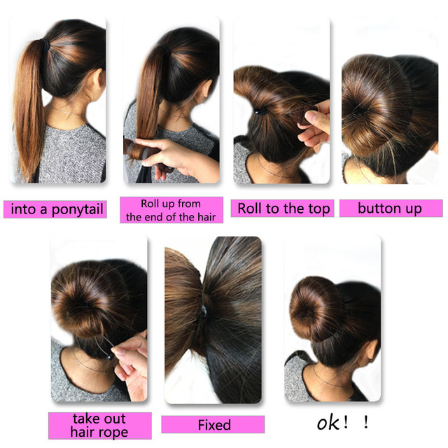 1 Set Women Girl Magic Style Hair Styling Tools Buns Braiders Curling Headwear Hair Rope Hair Band Accessories 3