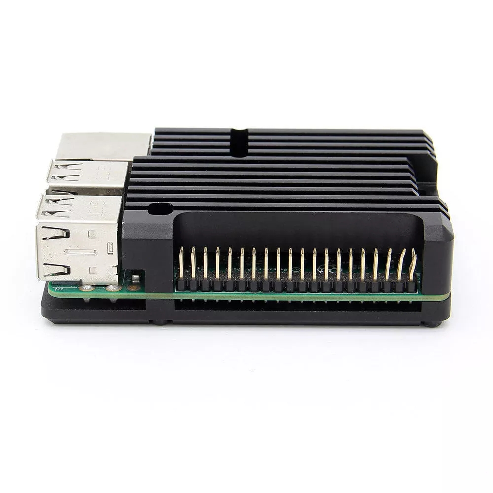 Latest CNC Aluminum Alloy Case Shell Enclosure Cooling Fan Heat Sink For Raspberry Pi 2b/3b+