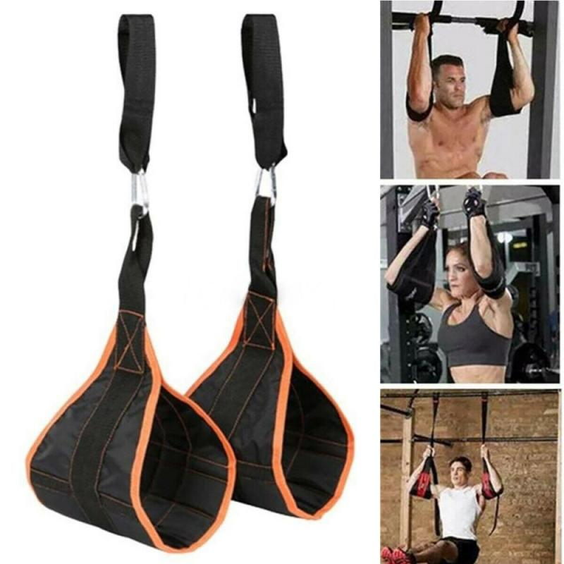 Hanging Ab Straps Padded Ab Sling Abdominal Crunch Gym Chin Up Abs Training Bodybuilding Fitness Equipment