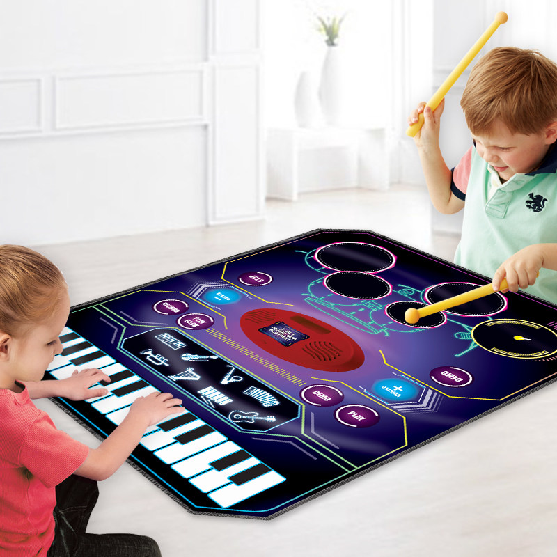 Boys And Girls Teach Children Early Wisdom Electronic Piano Blanket Learning Music Toys