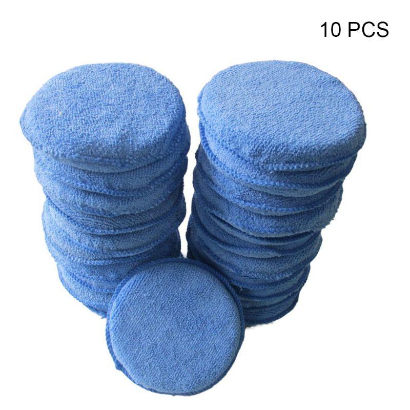 10 шт., круглые губки-аппликаторы для полировки автомобиля