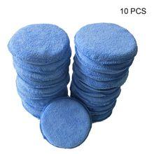 Esponjas de espuma redondas para coche, almohadillas aplicadoras sin arañazos, 10 Uds.