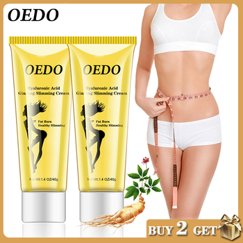 2PCS Hyaluronic Acid Ginseng Slimming Cream Reduce Cellulite Lose Weight Burning Fat Slimming Cream Health Care Burning Creams image