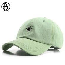 FS Summer Leaf Green Mens Cap With Visor Hip Hop Hat Beige C