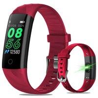 2019 herz Rate Smart Fitness Armband IP68 Wasserdichte Blutdruck Sauerstoff Monitor Farbe Bildschirm Aktivität Tracker Smart Band-in Digitale Uhren aus Uhren bei
