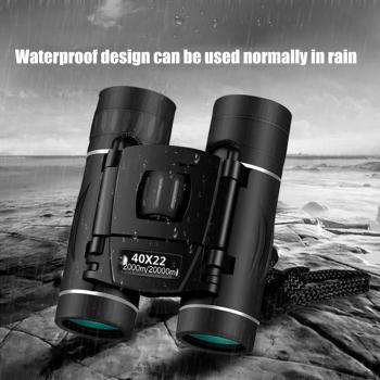 Telescope 40x22 Outdoor Hunting High Clarity Portable Hd Power Optical Night Vision Fixed Zoom Travelling Fold Binoculars zoom telescope 40x22 folding binoculars with low light night vision for outdoor bird watching travelling hunting camping 2000m a