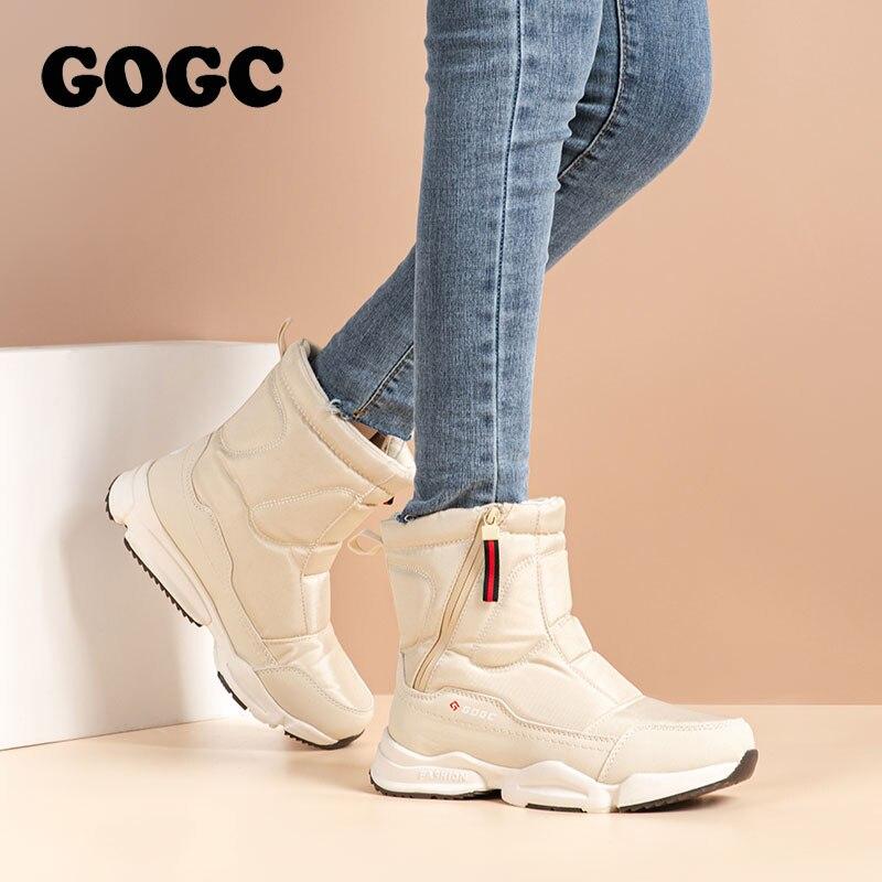 GOGC women boots Women's Winter Boots Shoes woman snow boots Women's Boots Winter Boots for Women Winter Shoes ankle boots G9906 1