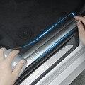 Автомобильные Защитные наклейки на бампер с защитой от царапин, прозрачная защитная пленка на порог багажника, Защитная пленка для края две...