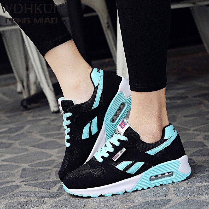 WDHKUN Women Air Cushion Sports Shoes Outdoor Running Lace Up Ladies Shoes Woman Sneakers Tenis Feminino Casual Flats SE636|Women's Vulcanize Shoes| - AliExpress