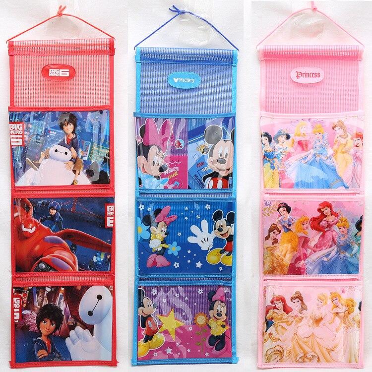 Disney princess children wallet storage hanging bag Frozen ELSA small wardrobe storage wall door back pocket sorting bag